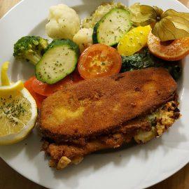Neu: Auberginen-Cordonbleu mit Käsefüllung
