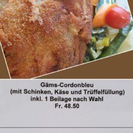 Gäms- und Wildschwein-Cordonbleu